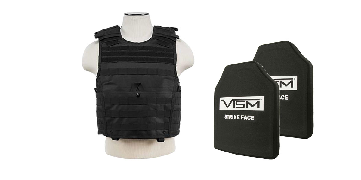 Delta Deals VISM NIJ Level 3 Ballistic Hard Panel x2 + VISM Plate Carrier Vest Only