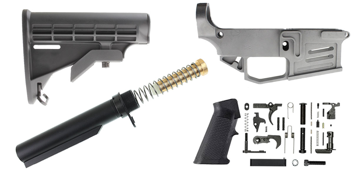 Delta Deals Mercury Precision 80% Lower + KAK Mil-Spec LPK + Lakota Ops LE Stock + Omega Manufacturing Mil-Spec Buffer Tube Kit