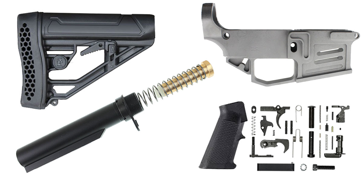 Delta Deals Mercury Precision 80% Lower + KAK Mil-Spec LPK + Adaptive Tactical Stock + Omega Manufacturing Mil-Spec Buffer Tube Kit