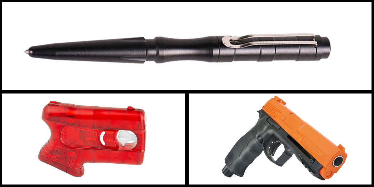 Delta Deals Less Lethal Combo Kimber Pepperblaster II + Pepper Ball Air Pistol + Tactical Pen, Black