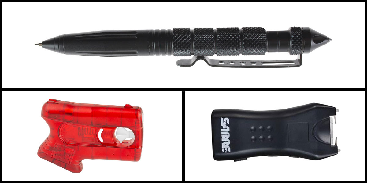 Delta Deals Less Lethal Combo Kimber Pepperblaster II + Sabre Mini Stun Gun + Heavy Duty Tactical Pen