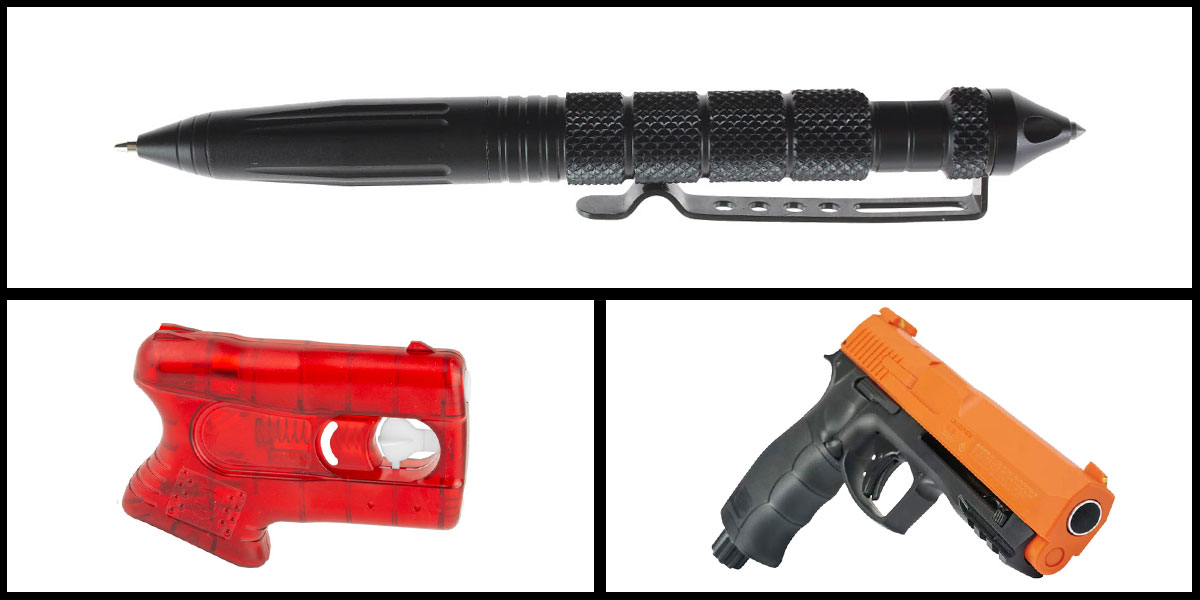Delta Deals Less Lethal Combo Kimber Pepperblaster II + Pepper Ball Air Pistol + Heavy Duty Tactical Pen
