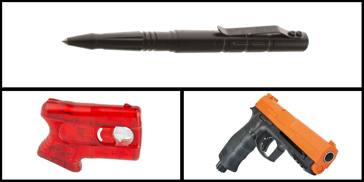 Delta Deals Less Lethal Combo Kimber Pepperblaster II + Pepper Ball Air Pistol + Tactical Glass Breaker w/ Pen