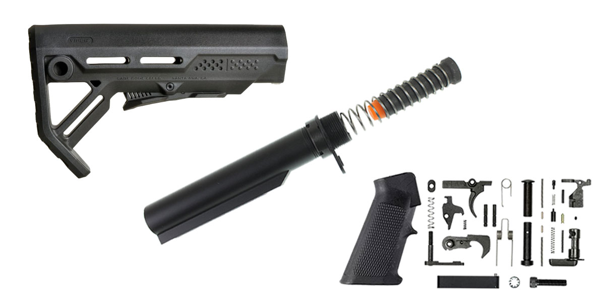 Delta Deals Strike Industries Viper Stock Finish Your Lower Rifle Kit - 9mm Buffer