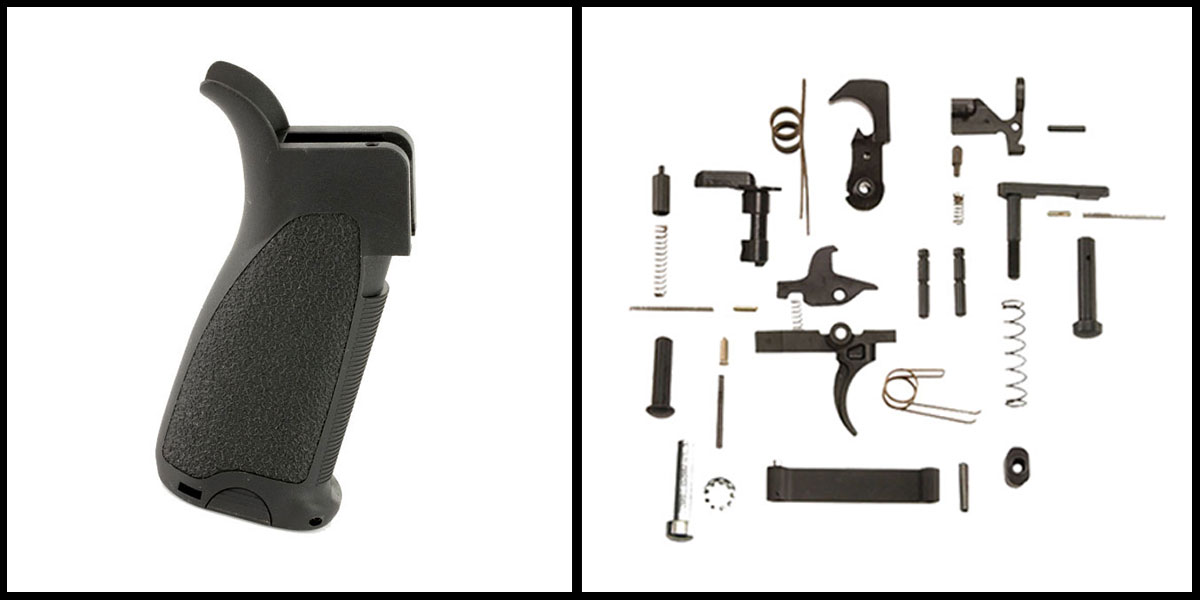 Delta Deals KAK AR-15 Lower Parts Kit w/ no Grip + Bravo Company, Gunfighter Grip MOD1