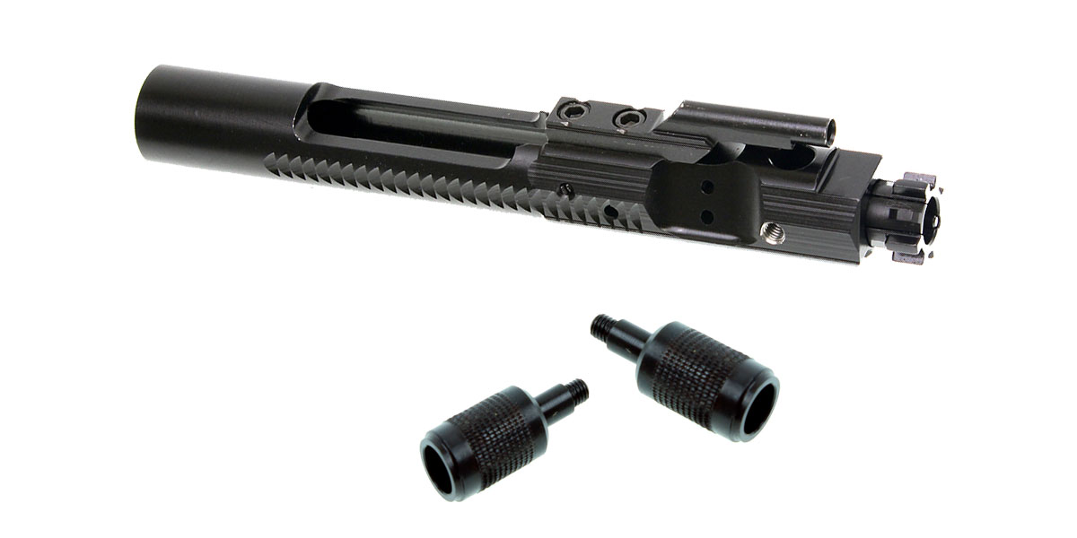 Delta Deals Side Charging (Threaded) Bolt Carrier - Nitride + 2x Knurled Side Charging Handles