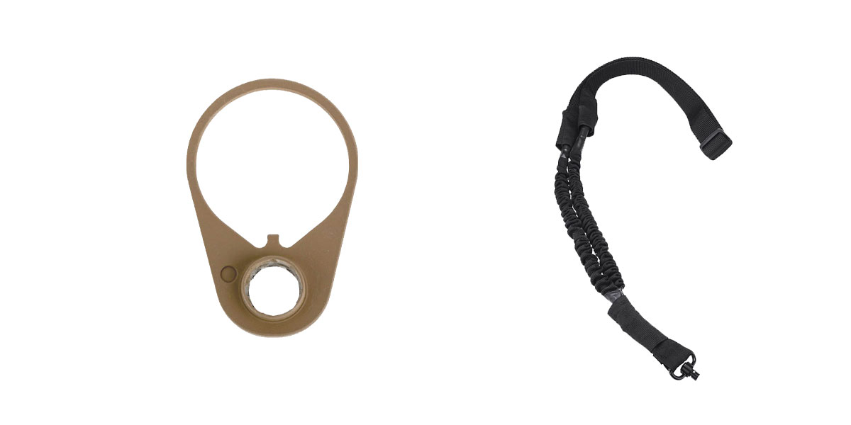 Delta Deals One Point Bungee sling with QD + Timber Creek Outdoors QD End Plate - FDE
