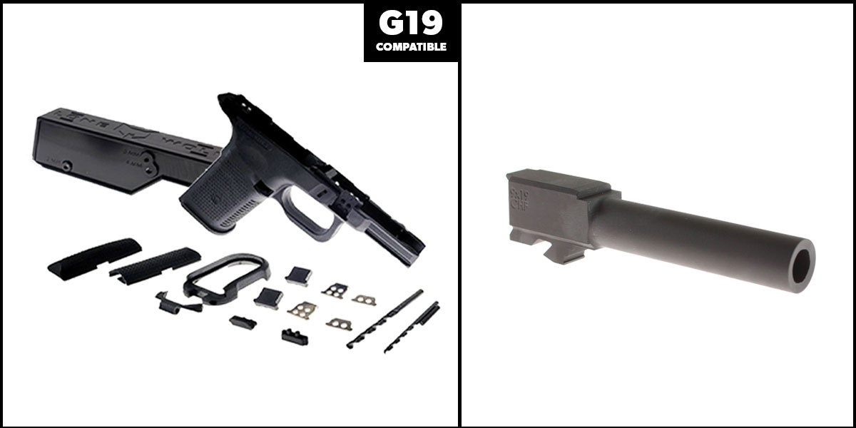 Delta Deals DIY Pistol Kits Featuring: Lone Wolf Frame G19/G23 + Cold Hammer Forged Non-Threaded 9mm Barrel