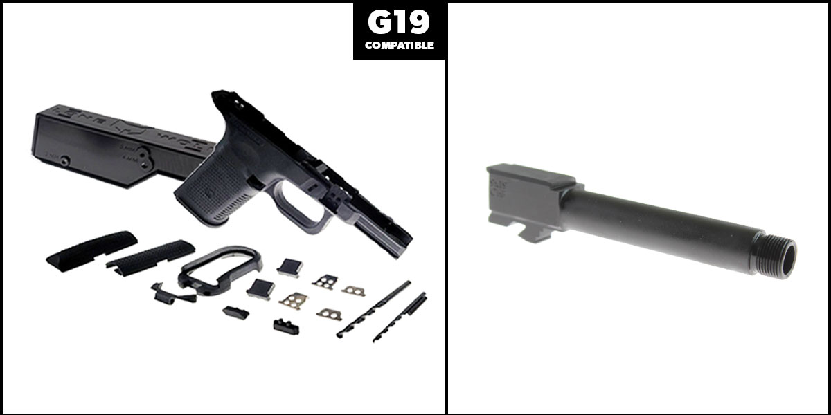 Delta Deals DIY Pistol Kits Featuring: Lone Wolf Frame G19/G23 + Cold Hammer Forged Threaded 9mm Barrel