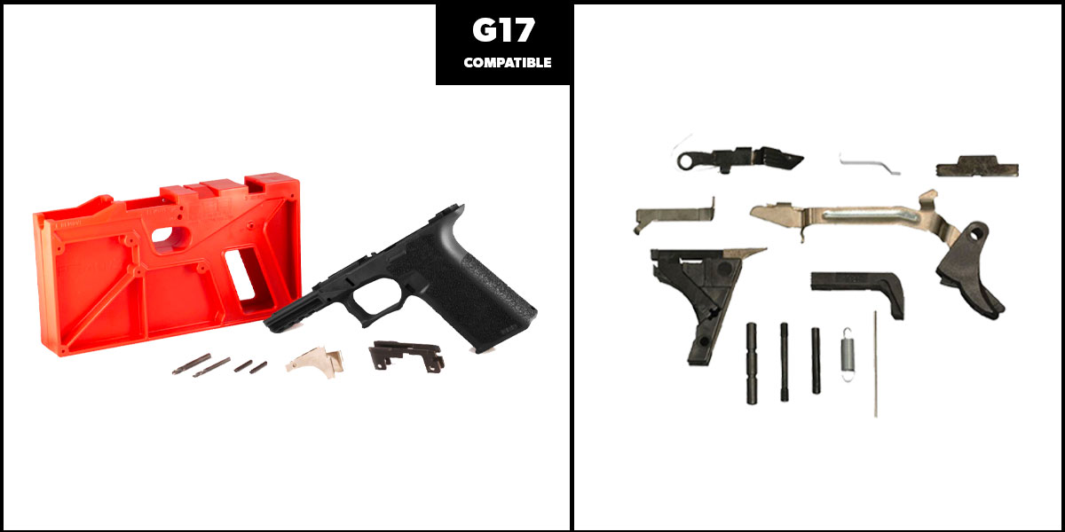 Delta Deals DIY Pistol Kits Featuring: Polymer 80 G17 Frame + Alpha One Glock Lower Parts Kit