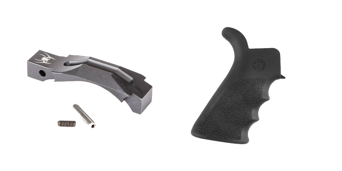 Delta Deals Enhanced Trigger Guard + Pistol Grip: Featuring Spikes and Hogue