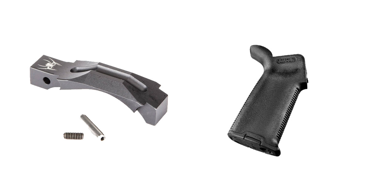 Delta Deals Enhanced Trigger Guard + Pistol Grip: Featuring Spikes and Magpul
