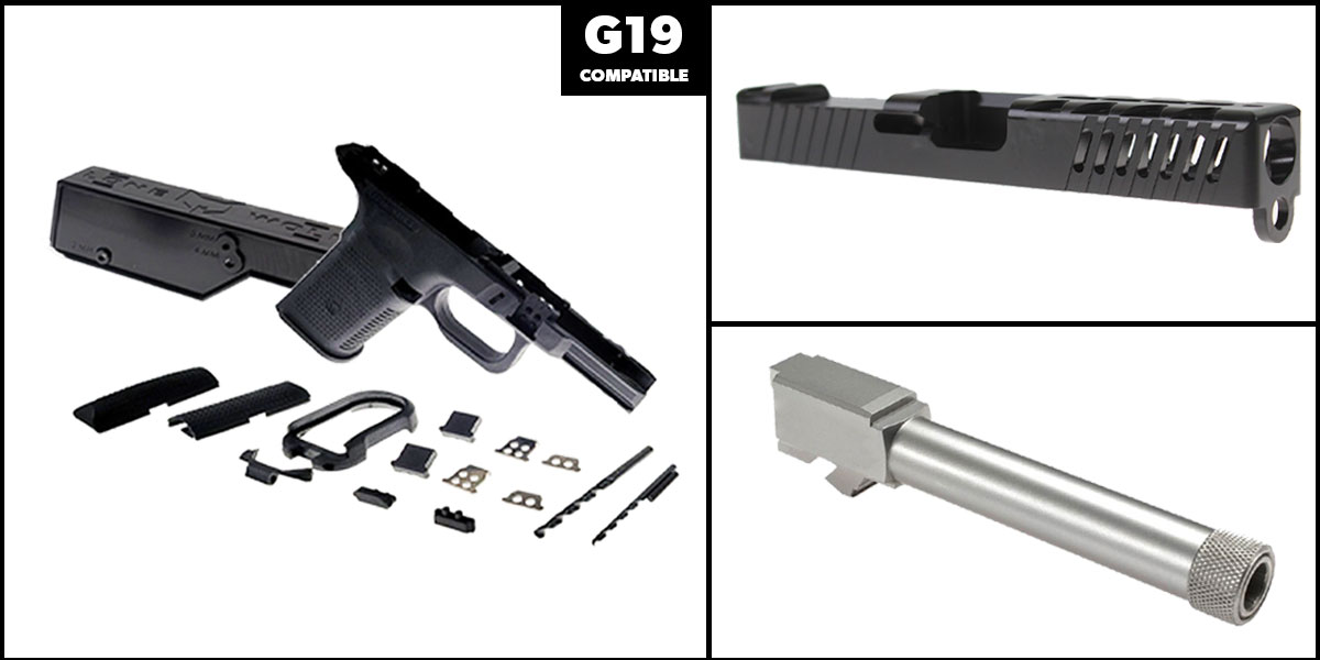 Delta Deals DIY Pistol Kits Featuring: Lone Wolf Frame G19/G23 + ELD Performance Slide G19 + Lone Wolf Threaded 9mm Barrel