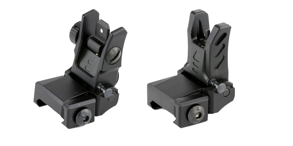 Leapers, Inc. - UTG Low Profile Flip-Up Front Sight and Rear Sight Combo
