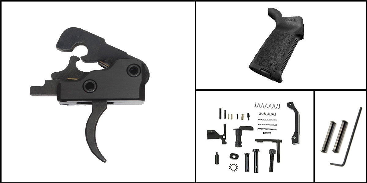 Delta Deals AR-15 Trigger Upgrade Kit Including Davidson Defense Trigger + CMMG Lower Parts Kit + Magpul MOE Grip + Davidson Defense Anti Walk Pins