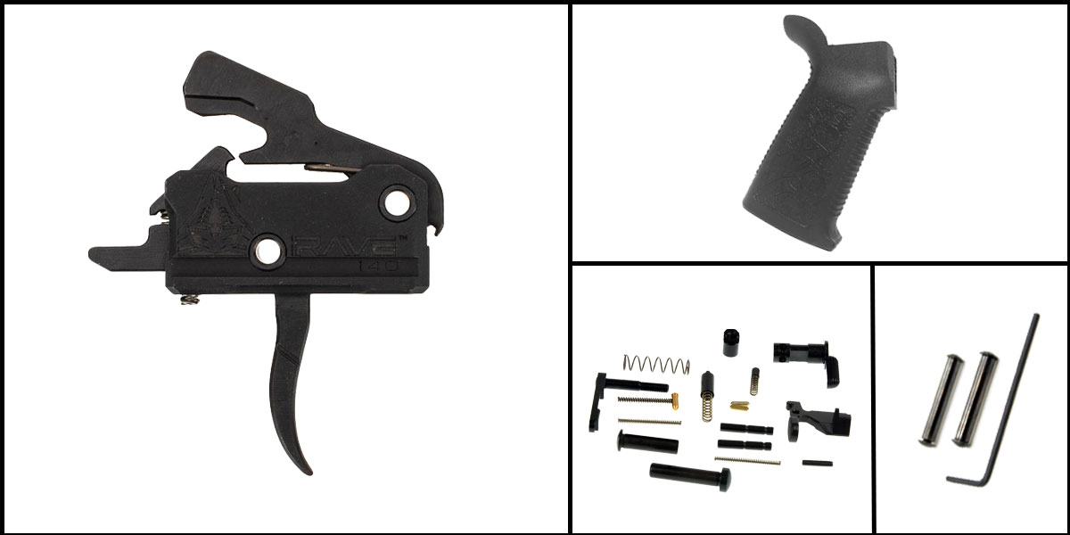spikes tactical ar-15 lower parts kit - single stage trigger ram speicher single rank