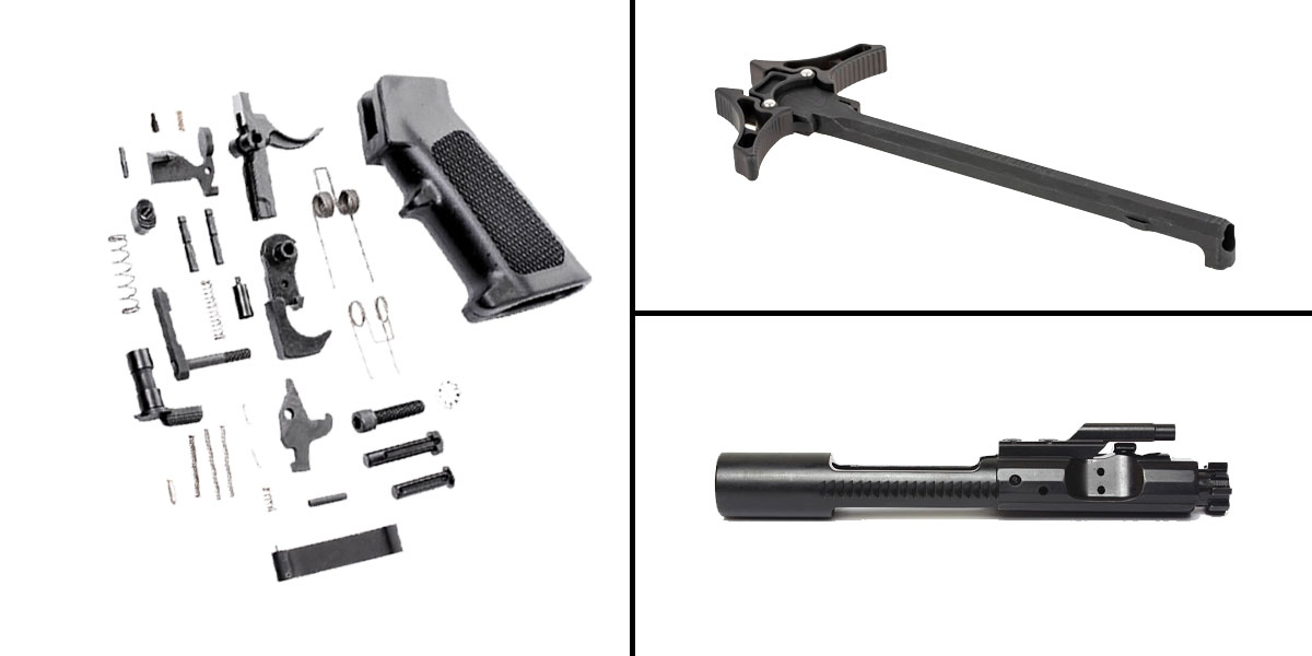 Delta Deals CMMG Lower Parts Kit + AR-15 5.56/.223/.300/.350 BCG + Timber Creek Charging Handle