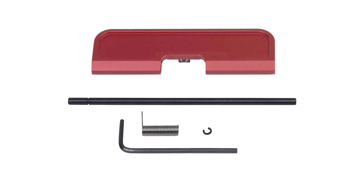 Guntec AR-15 Dust Cover Assembly, Anodized Red, Gen 3, T6 6061 Aluminum