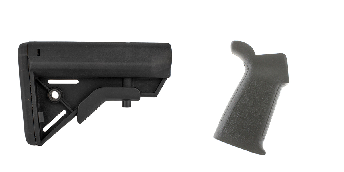 Delta Deals Stock and Pistol Grip Furniture Set: Featuring Davidson Defense + Spike's Tactical