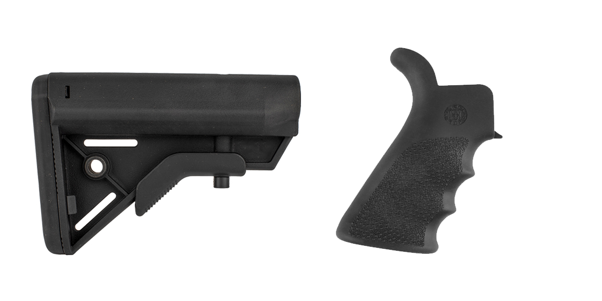 Delta Deals Stock and Pistol Grip Furniture Set: Featuring Davidson Defense + Hogue