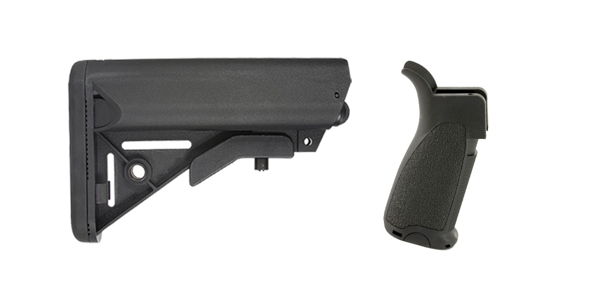 Delta Deals Stock and Pistol Grip Furniture Set: Featuring Davidson Defense + Bravo Company