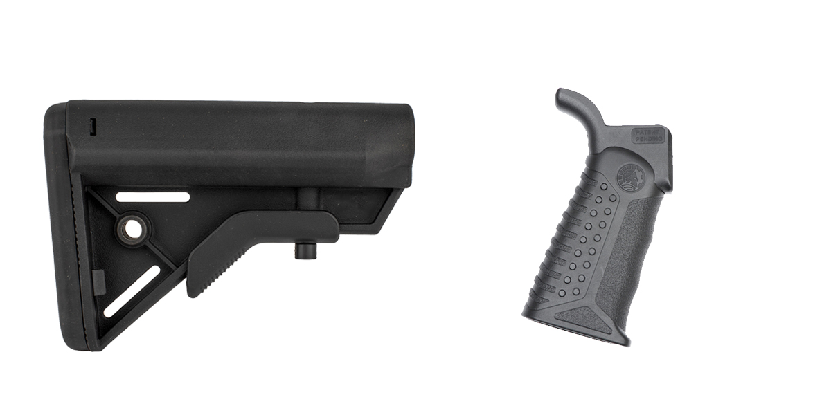 Delta Deals Stock and Pistol Grip Furniture Set: Featuring Davidson Defense + Battle Arms Development