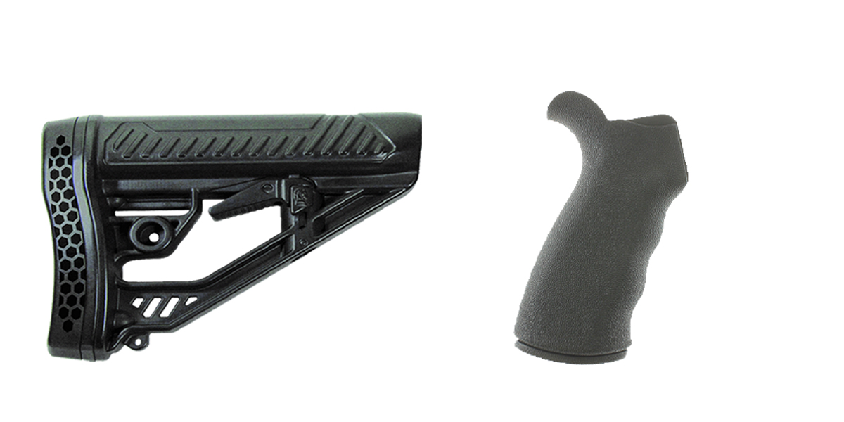 Delta Deals Stock and Pistol Grip Furniture Set: Featuring Adaptive Tactical + Omega Mfg.