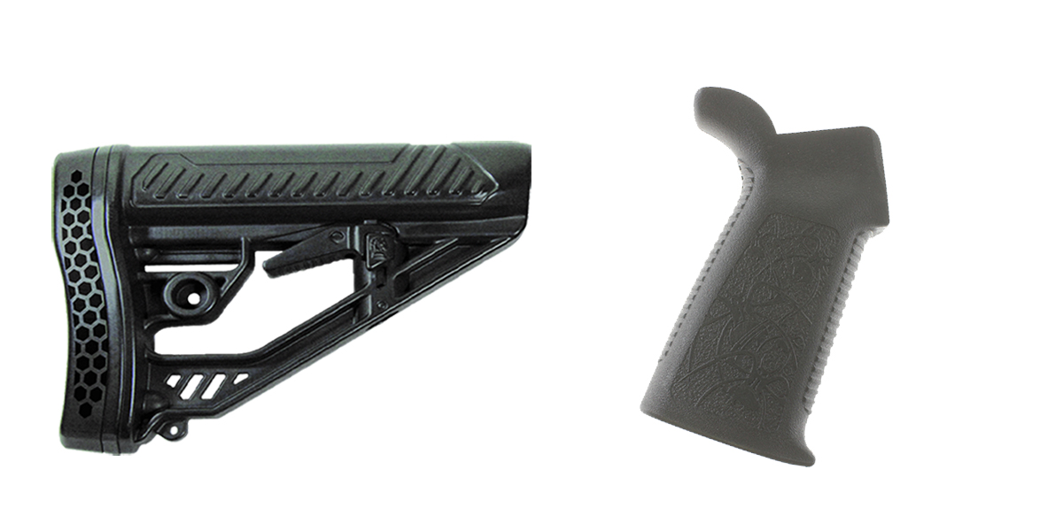 Delta Deals Stock and Pistol Grip Furniture Set: Featuring Adaptive Tactical + Spike's Tactical