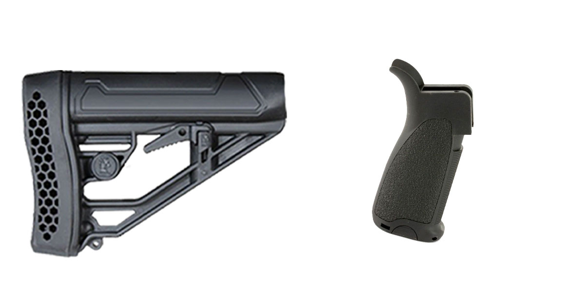 Delta Deals Stock and Pistol Grip Furniture Set: Featuring Adaptive Tactical + Bravo Company