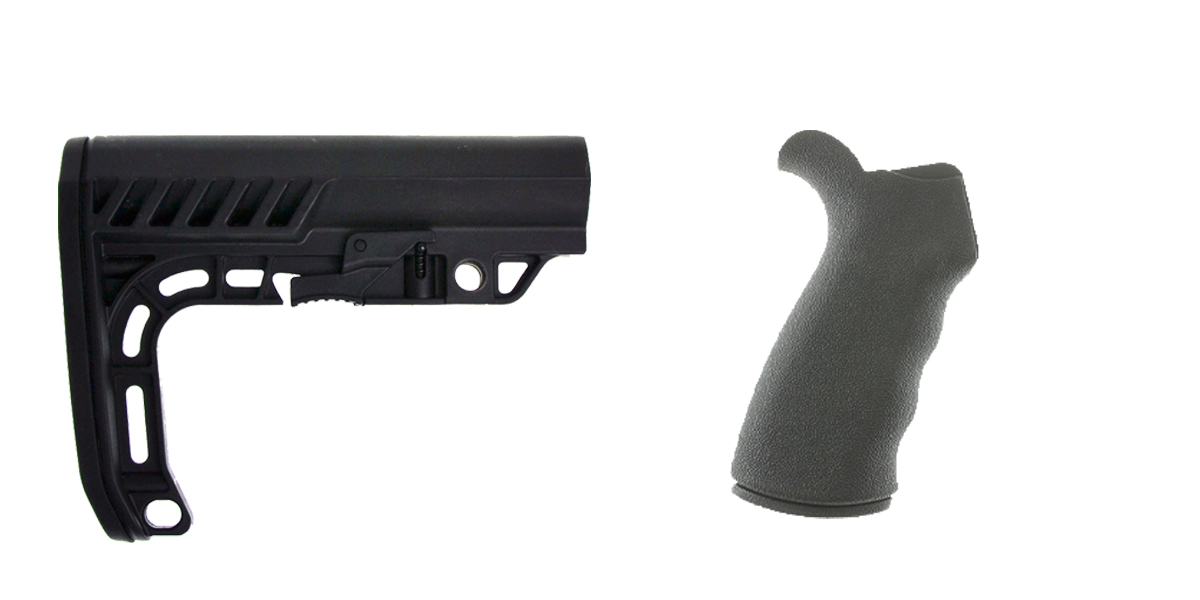 Delta Deals Stock and Pistol Grip Furniture Set: Featuring Lakota Ops + Omega Mfg.