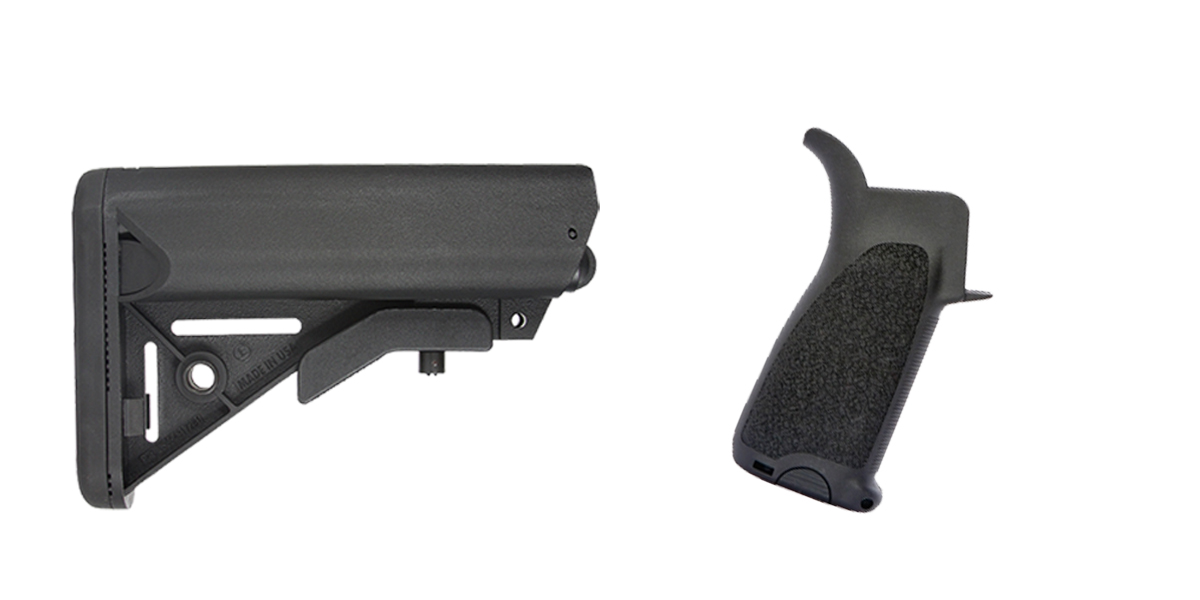 Delta Deals Stock and Pistol Grip Furniture Set: Featuring JE Machine + BCM