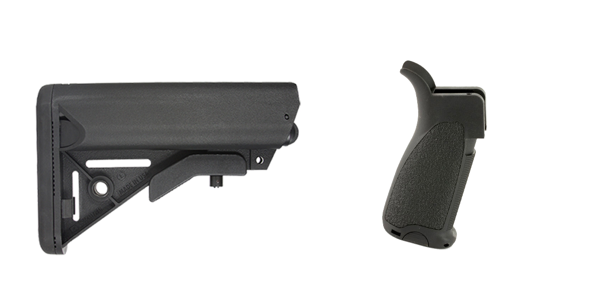 Delta Deals Stock and Pistol Grip Furniture Set: Featuring JE Machine + Bravo Company