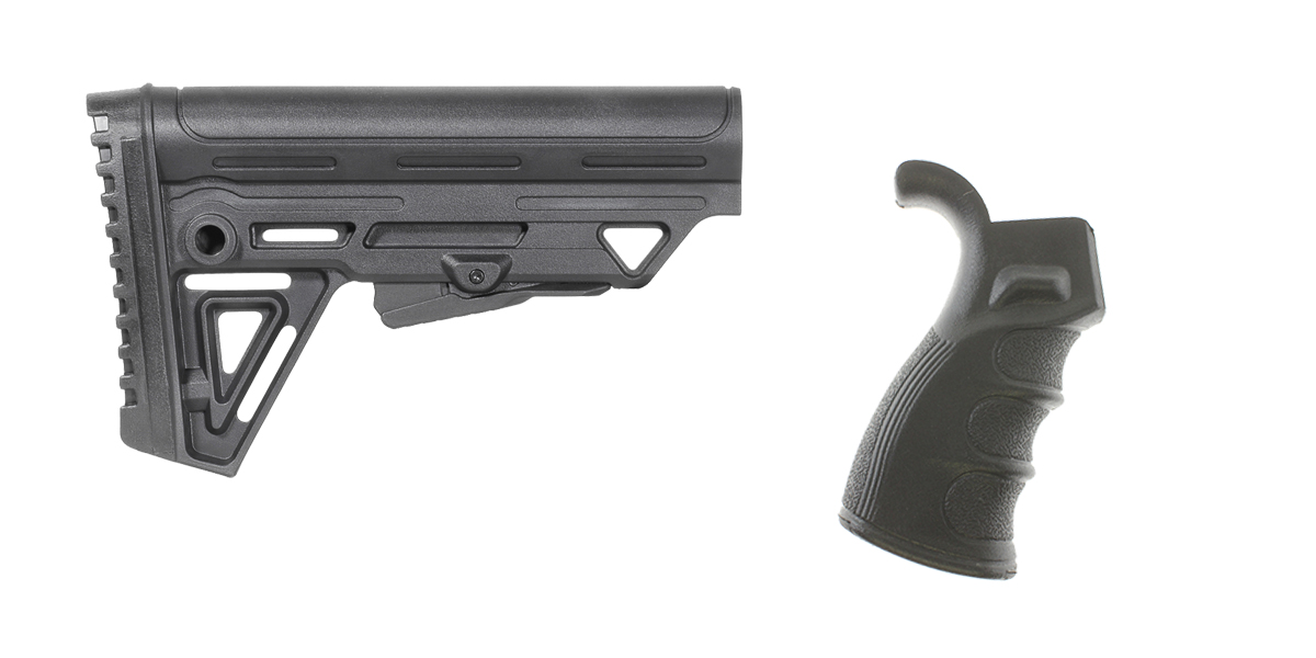 Delta Deals Stock and Pistol Grip Furniture Set: Featuring Trinity Force + Spike's Tactical