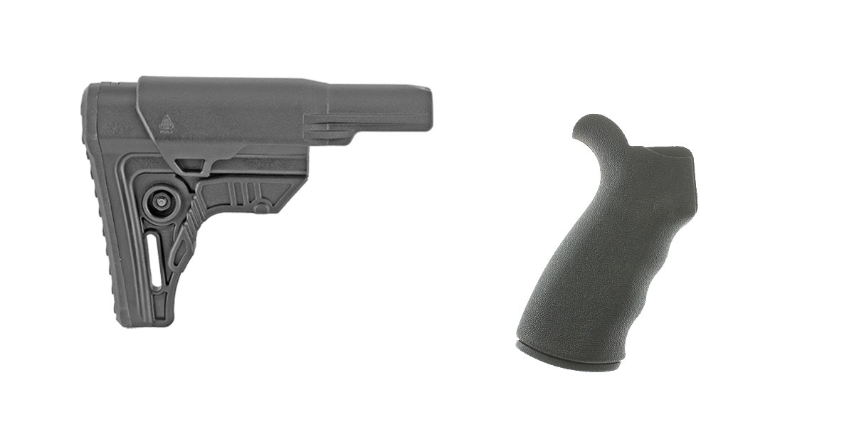 Delta Deals Stock and Pistol Grip Furniture Set: Featuring Leapers + Omega Mfg.