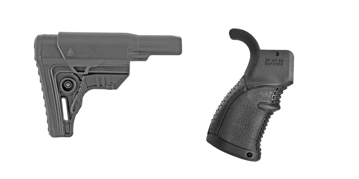 Delta Deals Stock and Pistol Grip Furniture Set: Featuring Leapers + FAB Defense