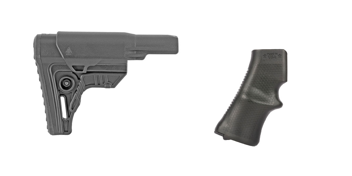 Delta Deals Stock and Pistol Grip Furniture Set: Featuring Leapers + A*B Arms