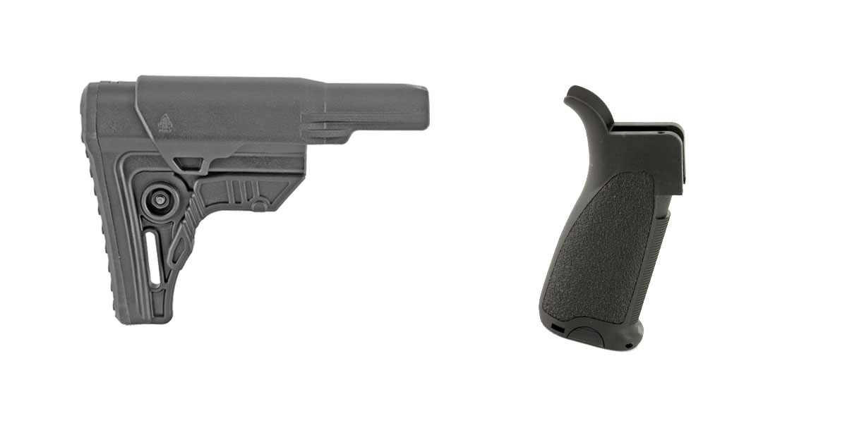 Delta Deals Stock and Pistol Grip Furniture Set: Featuring Leapers + Bravo Company