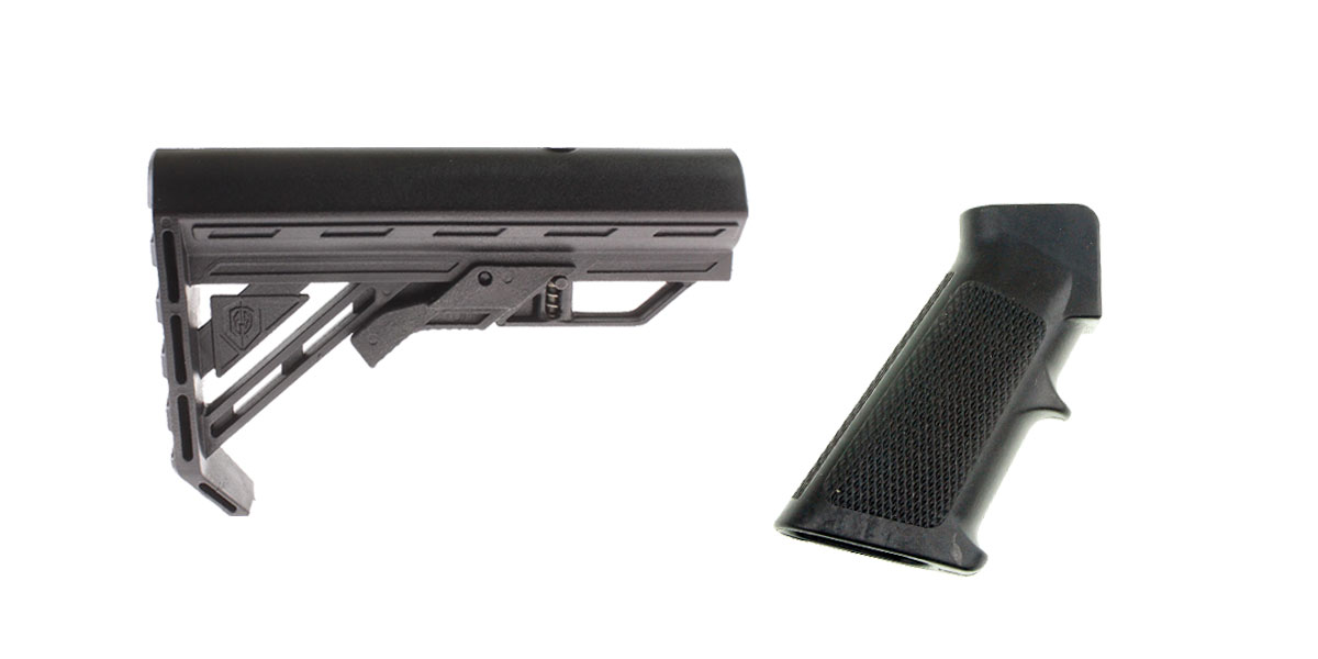 Delta Deals Stock and Pistol Grip Furniture Set: Featuring Davidson Defense + MMC Armory