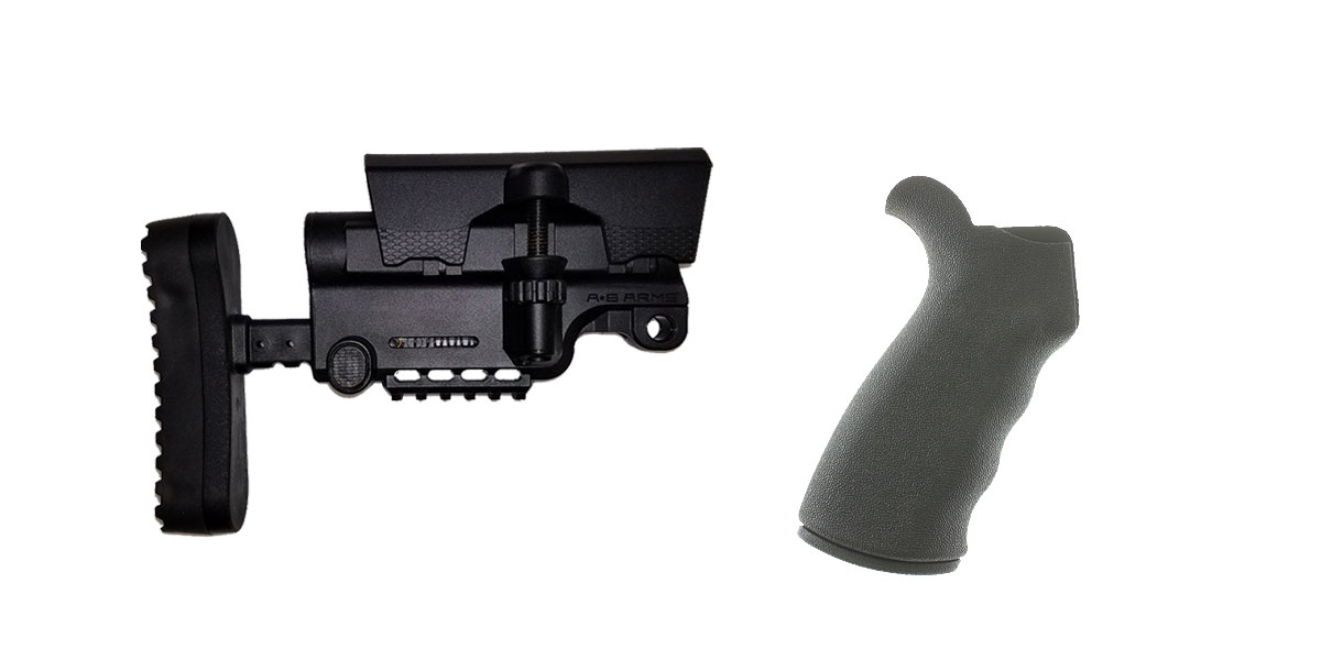 Delta Deals Stock and Pistol Grip Furniture Set: Featuring A*B Arms + Omega Mfg.