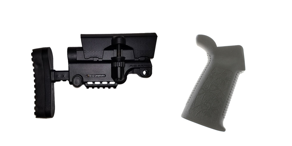 Delta Deals Stock and Pistol Grip Furniture Set: Featuring A*B Arms + Spike's Tactical