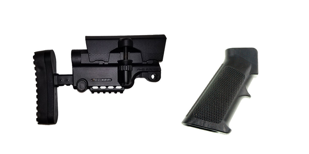Delta Deals Stock and Pistol Grip Furniture Set: Featuring A*B Arms + MMC Armory
