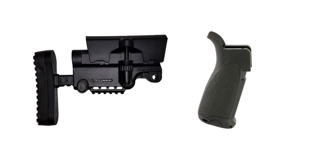Delta Deals Stock and Pistol Grip Furniture Set: Featuring A*B Arms + Bravo Company