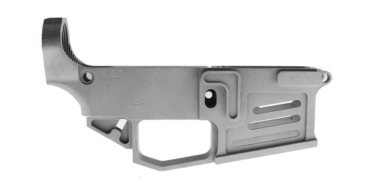 Mercury Precision 'Thebe' Billet AR-15 80% Aluminum Lower Receiver - Thin Cutouts On Magwell - Made In The USA