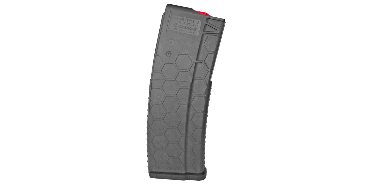 HEXMAG, Dark Grey Finish, Red Follower and Latch Plate, .223 Remington/5.56 NATO, 30Rd Magazine