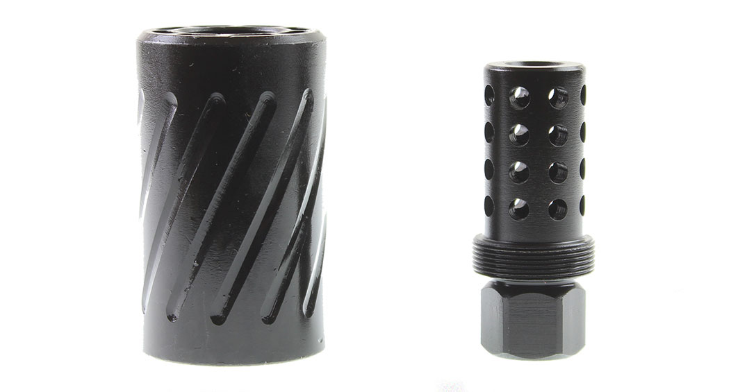 Guntec AR-15 1/2x28 Muzzle Comp with QD Blast Shield