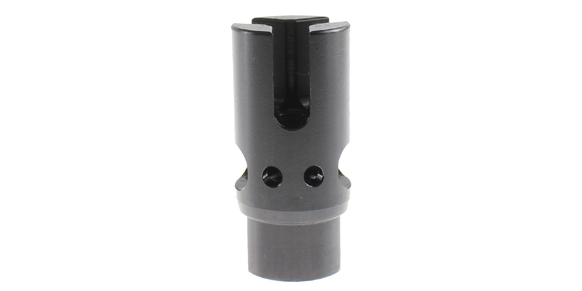 Recoil Technologies AR-15 1/2x28 3 Prong Muzzle Brake w/Side and Top Ports