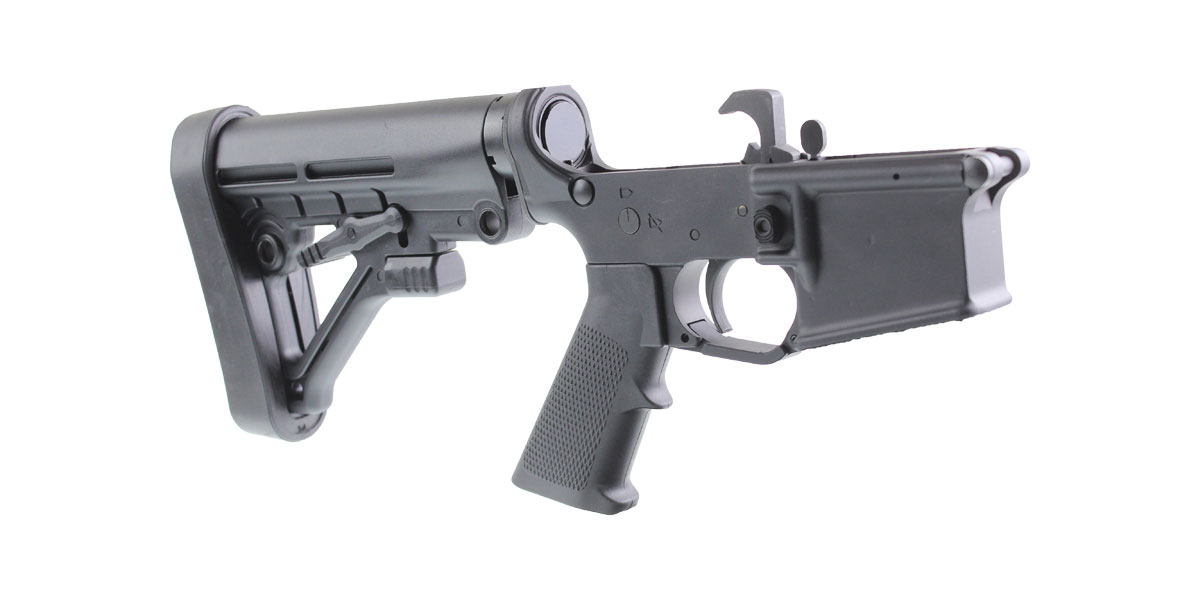 DTT Customs AR-15 Rifle Lower Receiver Build Kit Featuring MMC Armory MA15 Lower Receiver Lakota Ops Omega Stock and KAK Industries LPK (Assembled or Unassembled)