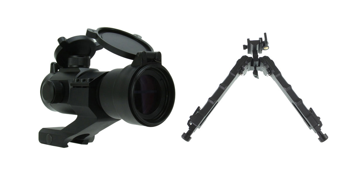 Delta Deals 1X30 TRI. ILLUMINATED RED/GREEN/BLUE DOT SIGHT WITH CANTILEVER MOUNT + United Defense