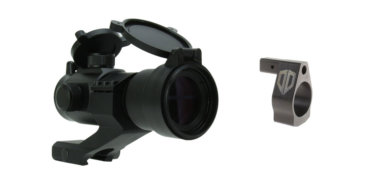 Delta Deals Alpha One Gas Block .750 Nano Adjustable + 1X30 DUAL ILLUMINATED RED/GREEN DOT SIGHT WITH CANTILEVER MOUNT