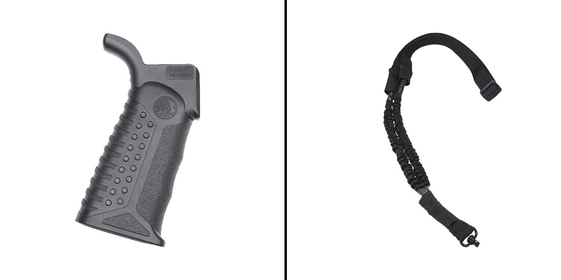 Delta Deals Battle Arms Development Adjustable Tactical Grip - 3 Grip Angles + NCStar One Point Bungee Sling With QD